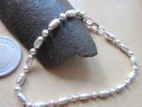 イタリア製 Silver925  純銀 ブレスレット pave 18.5cm  n403