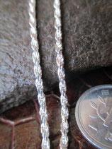 イタリア製 純銀 Silver925 シルバーチェーン 2mm 60cm10.1g *Rope050