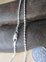イタリア製 純銀 Silver925 シルバーチェーン 2mm 60cm 7.1g *Rope040b