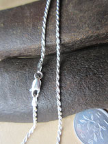 イタリア製 純銀 Silver925 シルバーチェーン 2mm 40cm  5g *Rope040