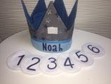 Geburtstagskronen mit Zahlen 1-6