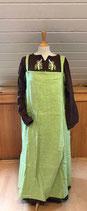 bestickte Cotte und grüne Wikingerschürze, Größe 38 bis 42