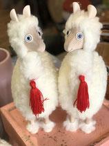 Alpaka mini, weiße Schurwolle