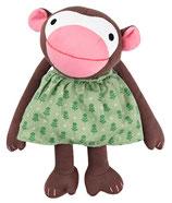 Kuscheltier Affe Frida - grünes Kleid