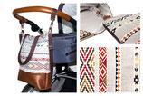 Wickeltasche / Kinderwagentasche: Ethnomuster