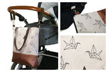 Wickeltasche / Kinderwagentasche: Kranich Origami