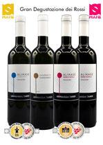 Gran Degustazione Rossi! Provali adesso i nostri vini super premiati! Non sceglierli è un peccato.