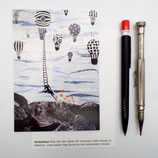 postcard A6 airballoons