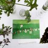 postcard A6 sparrow