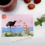 postcard A6 love