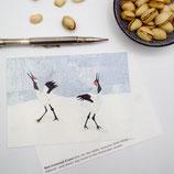 Postcard A6 Crane
