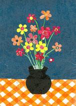 Giftcard A6    Flowers in vase