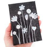 artwork flowers in black