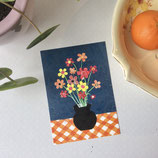 postcard A6    Flowers in vase