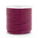 AUbergine Purple  Rindrundleder