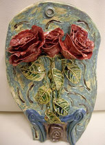 Keramikbild Rosen 2