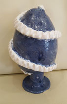 Keramikei blau/weiss