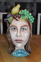Dame mit Obsthaar