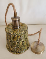 Lampe Olivgrün