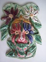 "Wandkeramikmaske  ""flowerman"""