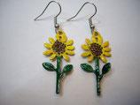 Ohrringe Edelstahl Sonnenblumen l-35 mm