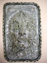 Keramikwandmaske Flowerhead