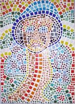 Mosaikbild Mit langen Hals