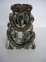 Keramikvase grün & gold