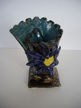 Keramikvase blue flower