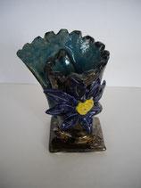 Keramikvase blue flower