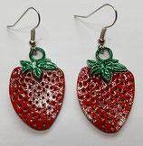 Ohrringe Erdbeere