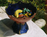 Keramikschüssel Blau-Rosa