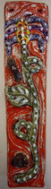 Keramikbild Kunstblume