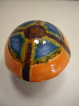 Keramikpilz Blau-Orange