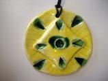 Keramikanhänger Gelb-Grün