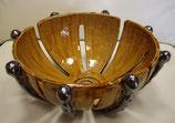 Keramikschüssel Cognac