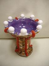 Keramikschüssel Rote Bänder