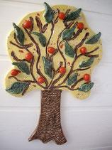 Keramikbild Apfelbaum