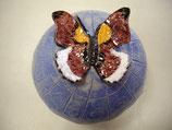Pilz mit Schmetterling