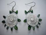 Ohrringe Rosenblüte