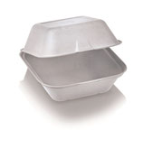 Burgerbox mit Klappdeckel groß, 13.5 x 13.5 cm, 7.8 cm tief