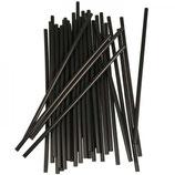 PLA-Strohhalme schwarz