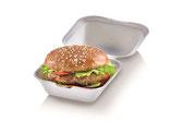 Burgerbox mit Klappdeckel klein, 12 x 12 cm, 6.8. cm tief