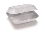 Food Box mit Klappdeckel extra groß, 3-teilig, 23.5 x 19.5 cm, 7.5 cm tief