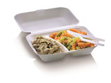 Food Box mit Klappdeckel extra groß, 2-teilig, 23.5 x 19.5 cm, 7.5 cm