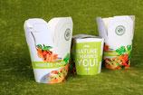 """Pasta Box 480 ml mit Aufdruck """"Nature Thanks You"""""""