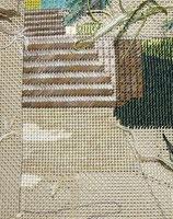 Kleines Projekt mit Perlstich, Jaquardstich, Mosaikstich und Fischgrätstich.