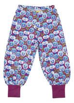 NEU: Sommer-Baggy Pants mit Veilchen in Blau/Violet von DUNS