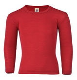 Langarmshirt Wolle/Seide in Rot bis Grösse 176 von Engel