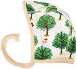 Babymützchen mit Fuchs und Baum in Beige von DUNS